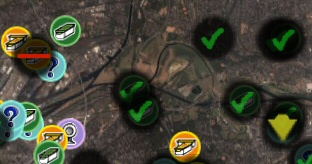 GoogleEarth with geocaching icons